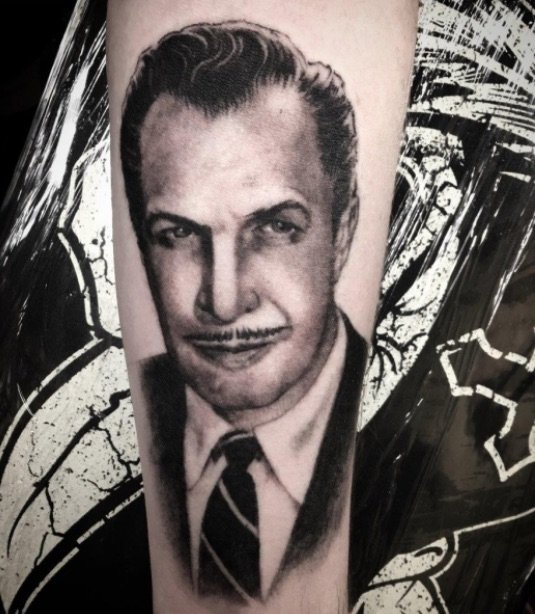 vincent price tattoo